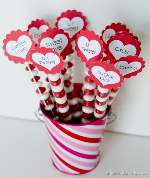 valentine's-day-M&M-bouquet
